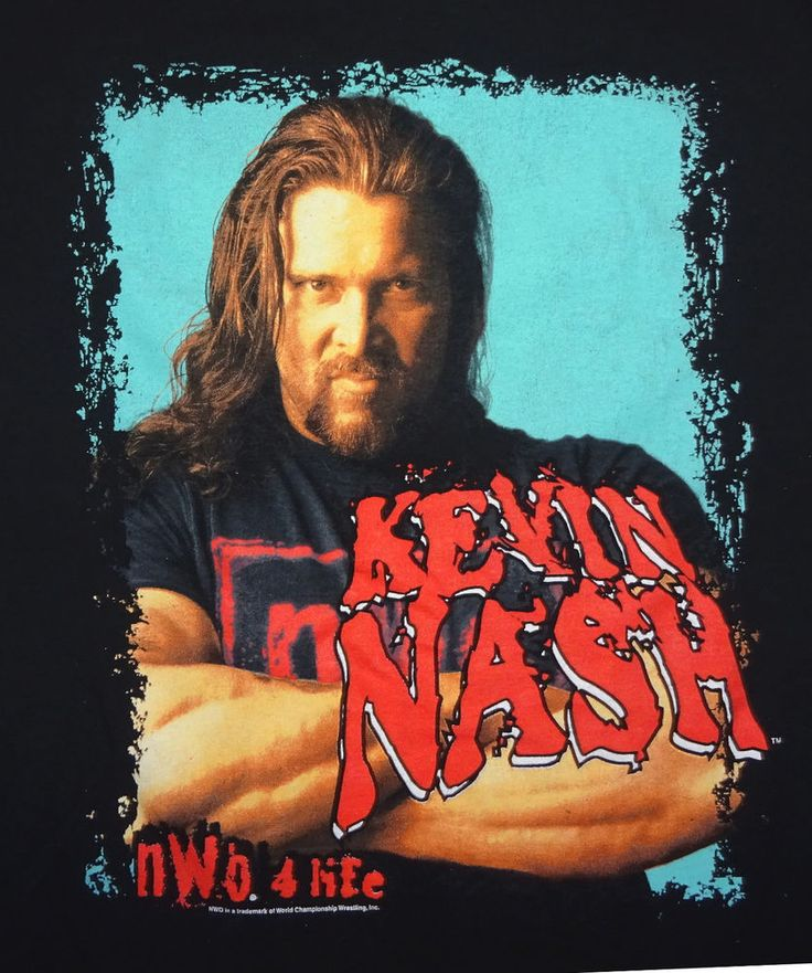 1998 Kevin Nash T-shirt WCW NWO Size XL Sharp Graphics Great Condition #Anvil