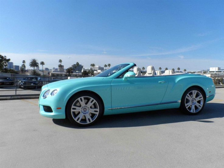 Forget the Jewelry, Here's a Tiffany Blue Bentley Continental GTC Limited