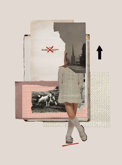 Rhed Fawell - 'Into Line - Collage 2016