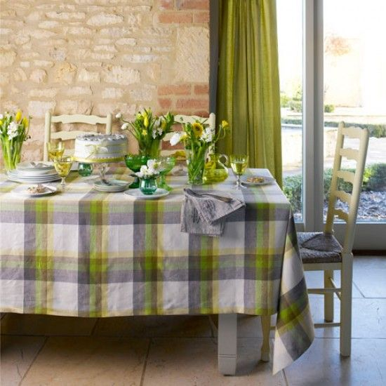 faro 100 linen set of dinner table decorationsgreen dining roomcountry - Country Cottage Dining Room Ideas