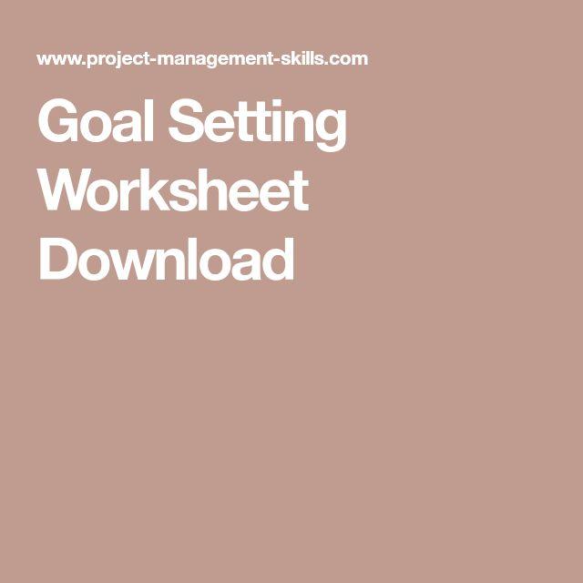 The 25+ best Goal setting worksheet ideas on Pinterest Goals - goal setting template