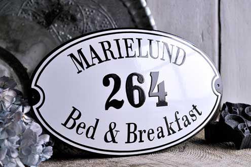 "Marselisborg Porcelain Enamel Sign 13⅜"" x 8¼"" (34 x 21 cm)"
