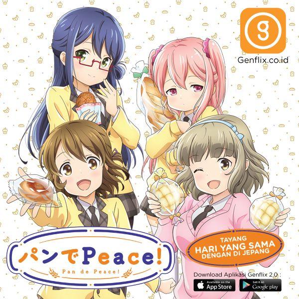 """#BaBekasihtau Genflix semakin menyajikan tayangan menarik untuk penggemar anime.   Salah satunya tayangan terbaru #anime """"Pan De Peace"""", dari Asahi Production kini bisa kamu tonton langsung di @Genflix setiap minggunya.  Lebih menariknya lagi anime ini tayang di jam yang sama dengan di Jepang.  Info lebih lanjut Klik http://genflix.co.id/content/packages?cat=movies&id=1271&title=Berteman-dengan-Roti&utm_term=Genflix-BABE buat nonton Pan De Peace di http://www.genflix.co.id"""