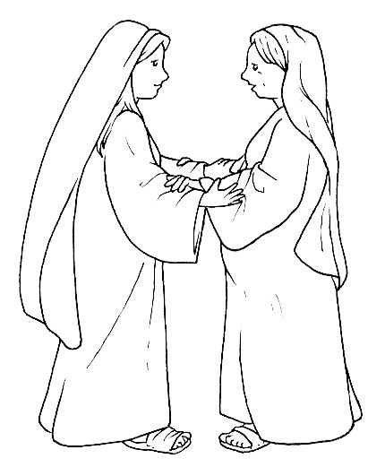 13 best bijbel maria images on pinterest sunday school for Mary visits elizabeth coloring page
