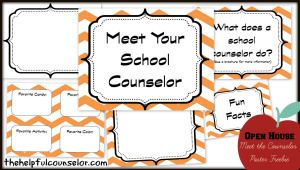 Back-to-School Open House: Editable Meet the School Counselor Poster « The Helpful Counselor