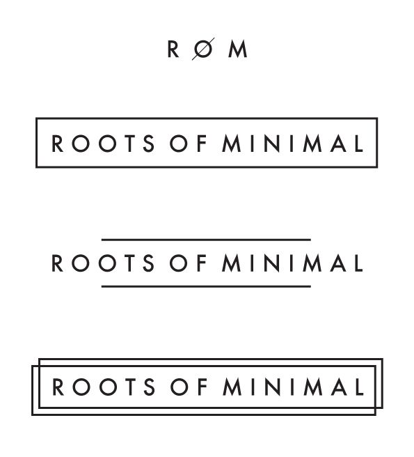 Logo for Roots of Minimal by Julie Wijckmans, via Behance
