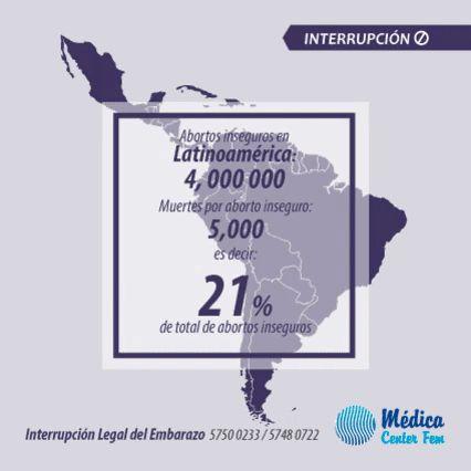 El Aborto en America Latina: En la actualidad, anualmente, cerca de 4 millones de mujeres en América Latina se practican un aborto http://www.medicacenterfem.com/clinica-ile/como-abortar-legalmente/
