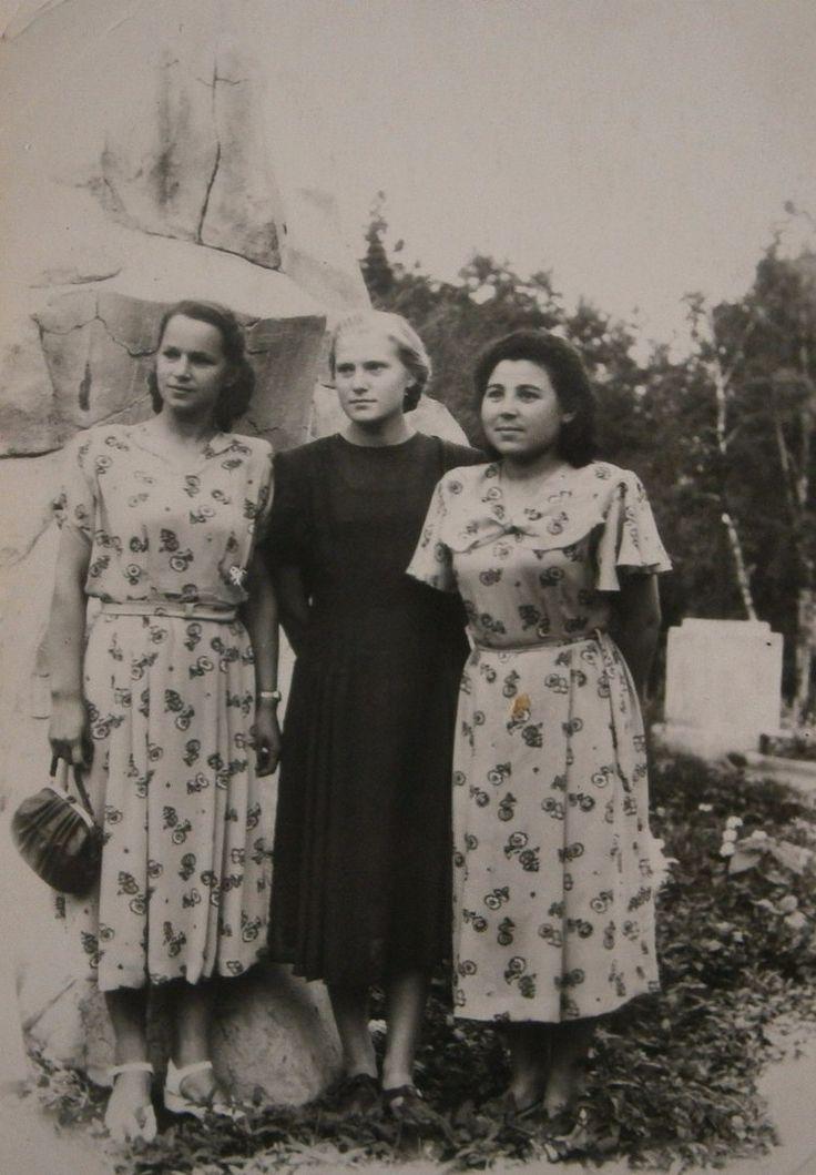 Женская мода 1950-х годов в СССР на фотографиях