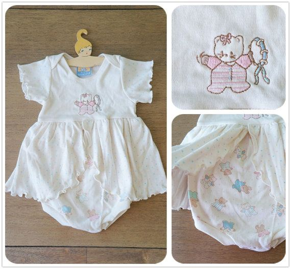 Vintage Baby Clothes New with Tag Baby Girl Pastel Polka