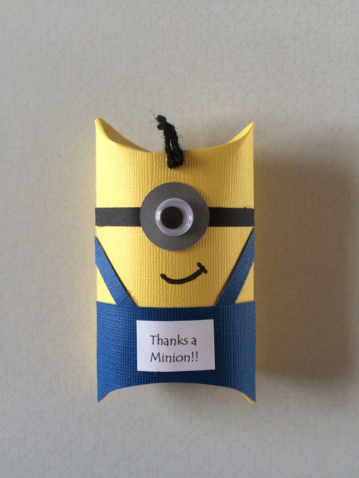 A personal favorite from my Etsy shop https://www.etsy.com/listing/287910847/minion-pillow-box-party-favors-set-of-12