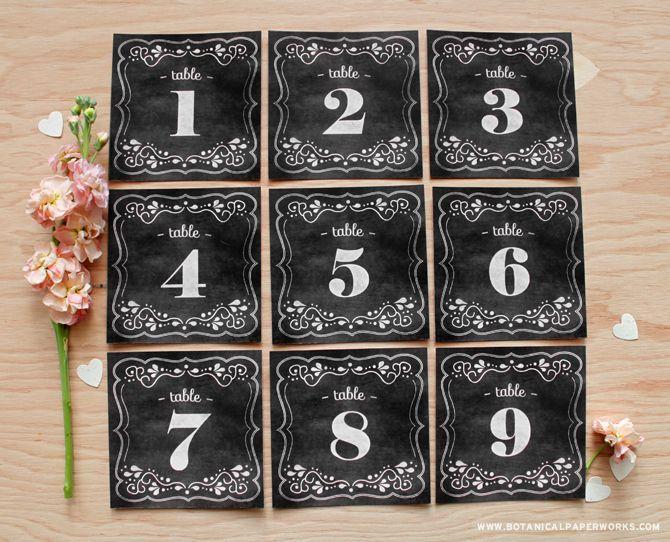 Chalkboard Table Numbers on Pinterest | Rustic Wedding Glasses, Wedding Table…