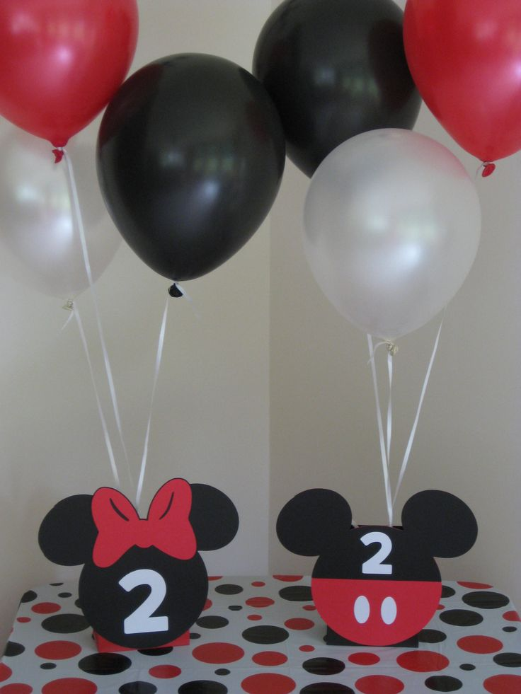 Minnie Mouse and Mickey Mouse Birthday Party Ideas.