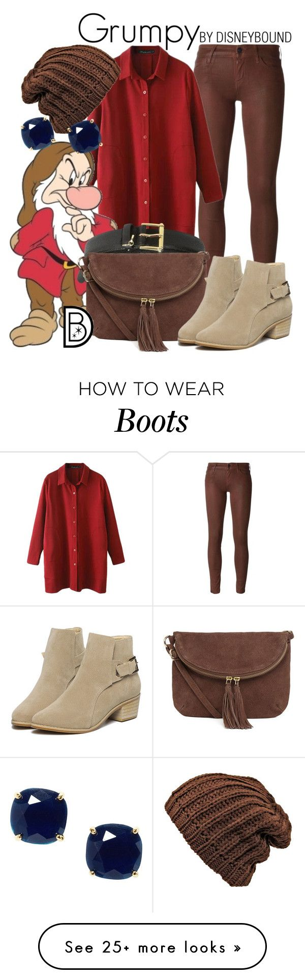 """Grumpy"" by leslieakay on Polyvore featuring Koral, 7 For All Mankind, Lauren Ralph Lauren, Warehouse, Kate Spade, disney, disneybound and disneycharacter"