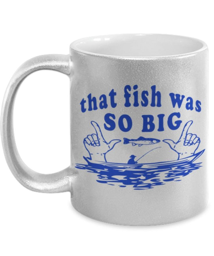 Coffee Mug – Fishing – Funny, Unique, Exclusive, Unusual, Beautiful fishing gift for Men, Boyfriend or Fisherman of Any Kind in 3 Color
