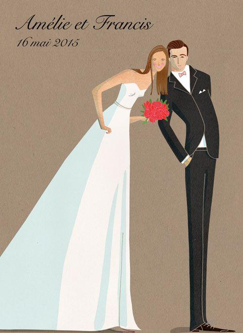 Wedding invitation. Carton d'invitation pour mariage. http://nathaliedion.ca/