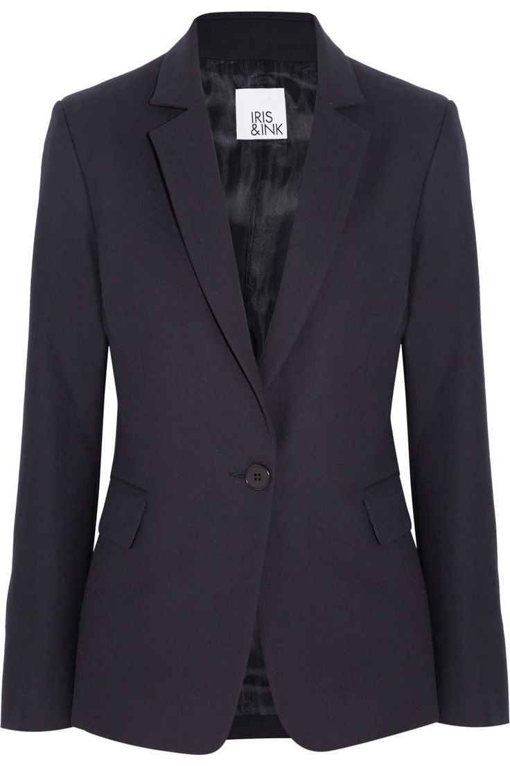 Iris & Ink Cotton-twill blazer - Exclusively for THE OUTNET
