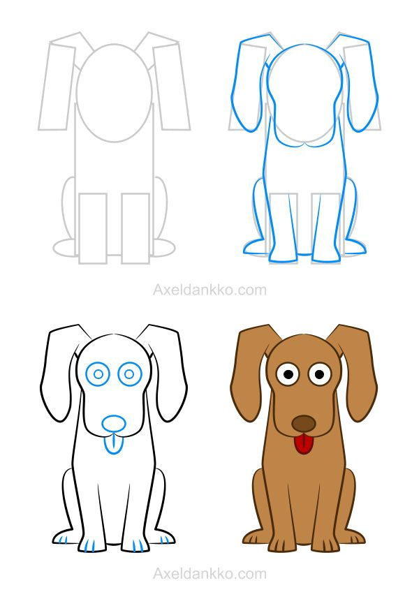 How to draw a dog - Comment dessiner un chien