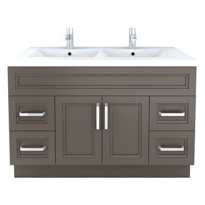 Cutler Kitchen & Bath Urban Sundown Contemporary Bathroom Vanity 48-in x 22-in  The Urban Collection offers a transitional yet slightly more contemporary