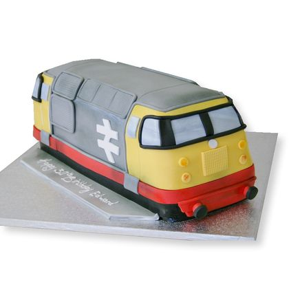 Diesel train from the cake store
