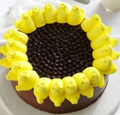 Too many Peeps in your Easter basket? Why not make them into a cake?