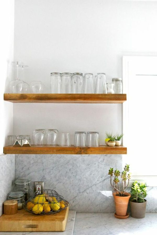 Küchenregale Designs – Was für Regale sind für die Küche am besten ...