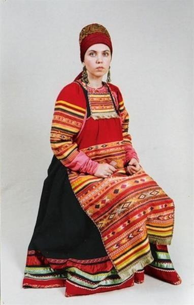 Передник национальный костюм московской губерниии