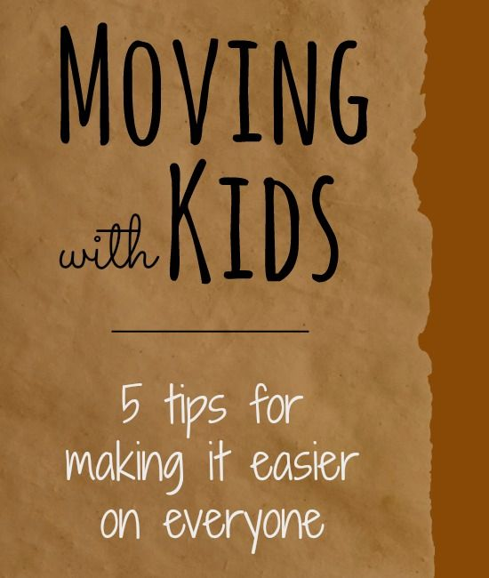 Will you be moving with kids? These 5 ideas will help make the moving process easier on you and the kids.