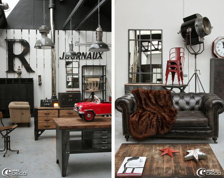 Vintage industrial urban decor game room pinterest - Deco vintage pas cher ...