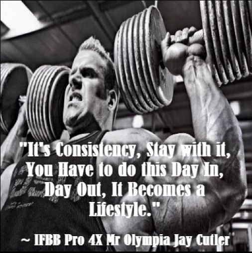 Wise words from bodybuilding legend #JayCutler! Also click the image to read an interesting article on what to eat to gain muscle. #Bodybuilding
