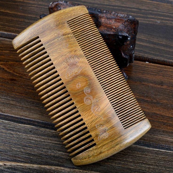 Двух сторон ручной работы сандалового дерева антистатические расческа Борода усы бородка расчески массажная Щетка для волос в banggood