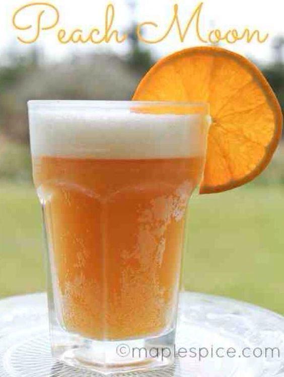 Peach Moon: Blue Moon beer, peach schnapps, orange juice.