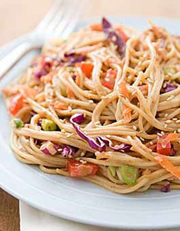 Hot or Cold Sesame Noodles Recipe by Rachael Ray - 6 Point Total - LaaLoosh