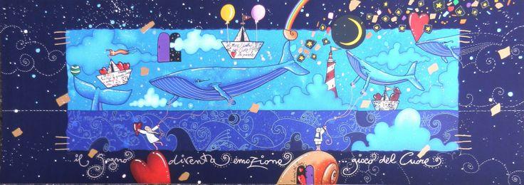 Il gioco, l'invenzione, la gioia di vivere. La curiosa tensione verso il volo libero della fantasia di chi, come Andrea Agostini, sa traghettare lo sguardo dalle sponde di una profonda poesia verso i lidi sconfinati dell'amore.