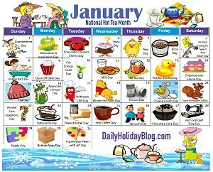 Monthly Holidays Calendars To Upload January Pinterest