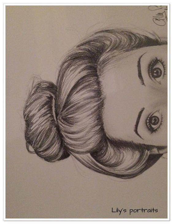 portrait REGARD au crayon graphite gras Dessins par