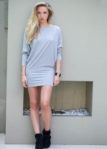 Clarence Dress, Light Grey  Casson London