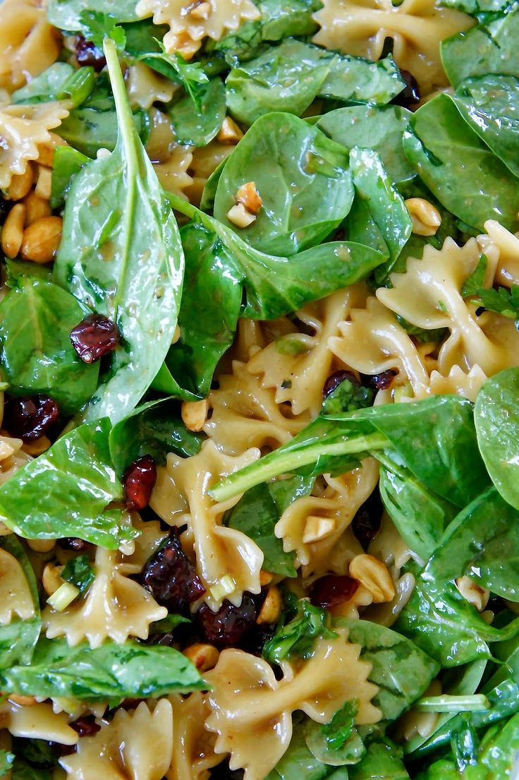 Spinach Pasta Salad: Savory Sweet and Satisfying