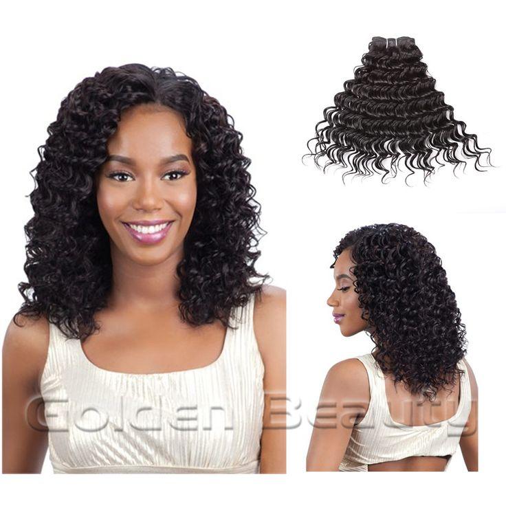 Golden Beauty 16 дюймов Глубокая Волна Переплетения Синтетические Наращивание Волос Шить в Переплетения