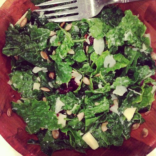 Kale salad recipe.   food   Pinterest