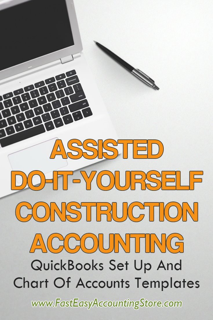 Contractor QuickBooks Set Up And Chart Of Accounts Templates - Digital Products to download immediately for your construction company.