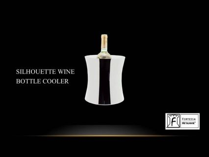 """Made from stainless steel Silhouette wine cooler  8""""(H) x 7.25""""(W) Product Code 2.5.003.00.326  SHIPPING IN CANADA ONLY!"""