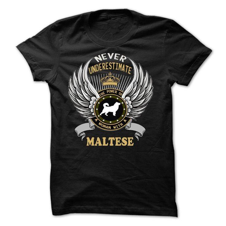 MALTESE T-Shirts, Hoodies. CHECK PRICE ==► https://www.sunfrog.com/Pets/MALTESE-16188243-Guys.html?id=41382