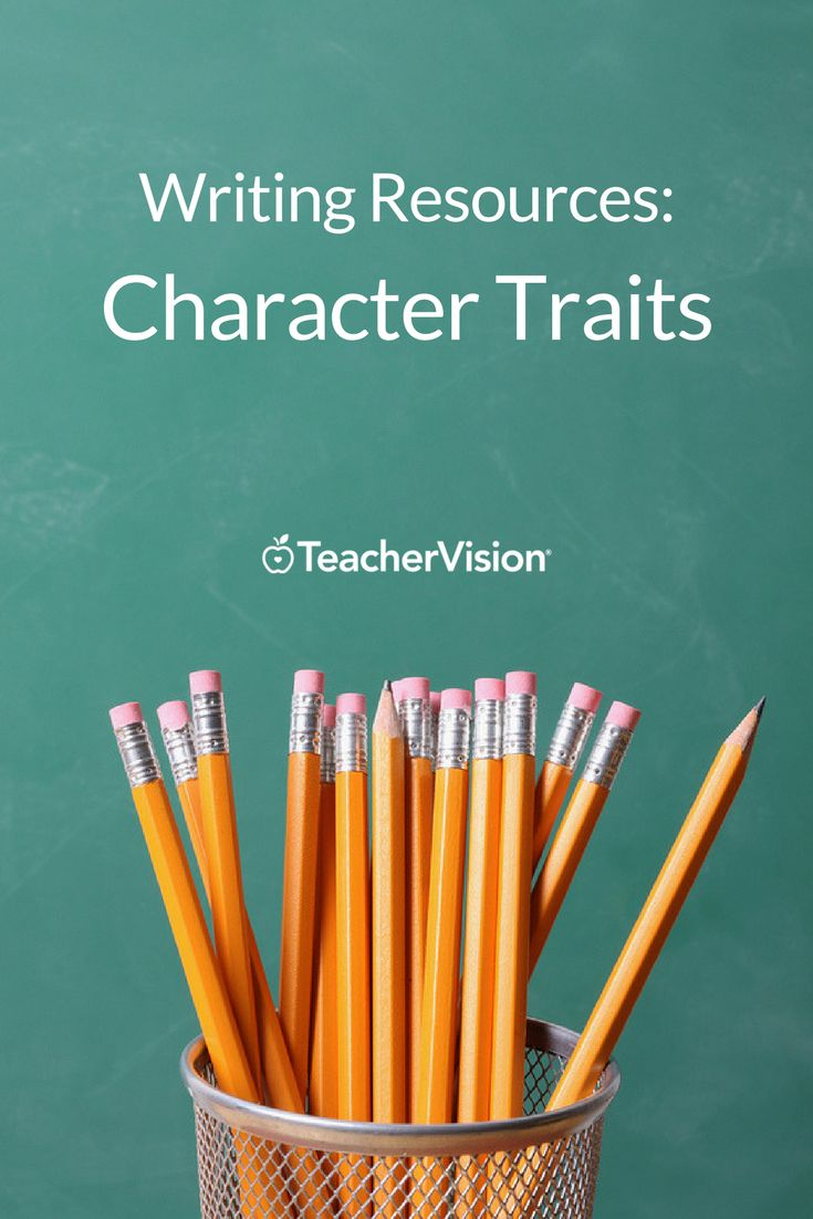 Character Traits: Use this lengthy list of character traits to help students understand and discuss literary characters. (Grades 3-8)