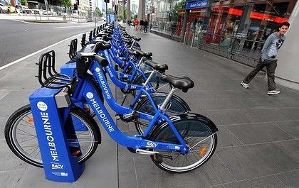 We can get around the city with them, But we need to bring our own helmets......
