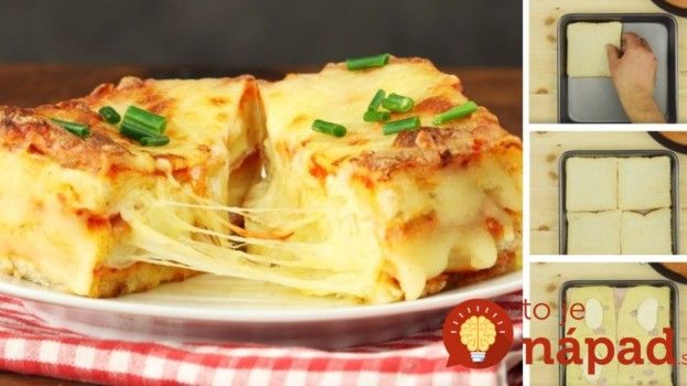 Máte doma starší chlebík a neviete, čo s ním? Vyskúšajte fantastické lasagne z pečiva, hotové o 30 minút!