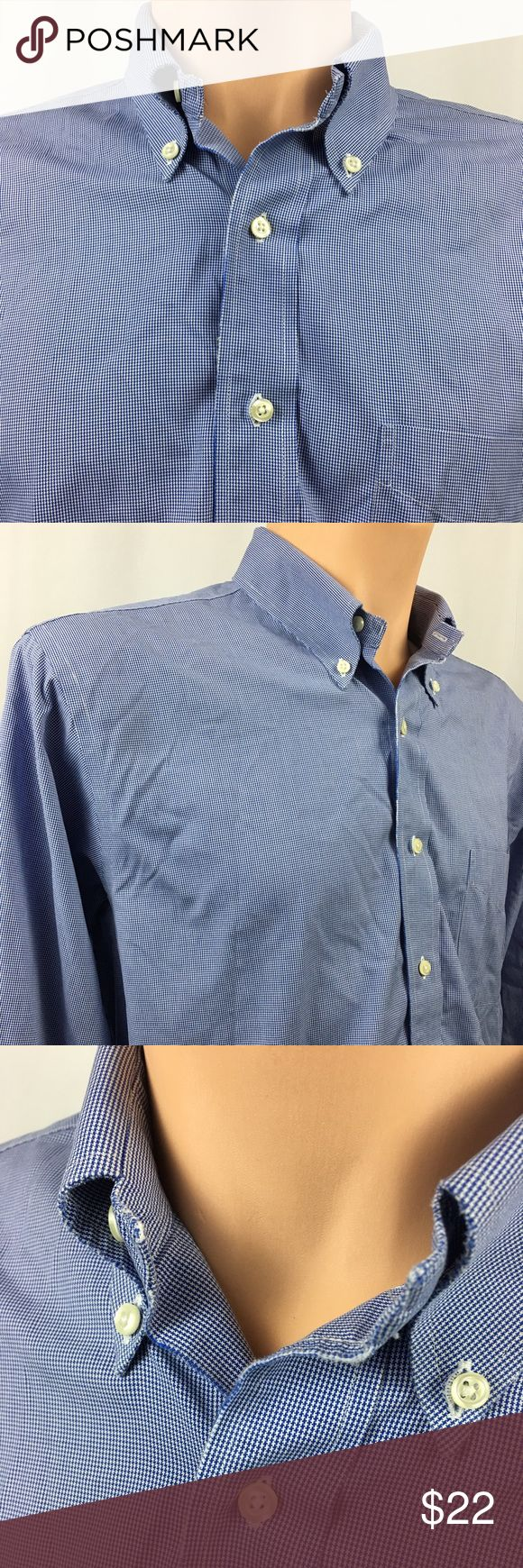 """Brooks Brothers Slim Fit Non Iron Dress Shirt blue Brooks Brothers Slim Fit Non Iron Dress Shirt 16.5 34 Blue Gingham LS All Cotton  Please see pictures as they are part of the description.  Euc - Some slight wear on some edges, at the neck and cuff, see pictures, very minor and hard to see  Measurements (approximately):   24"""" armpit to armpit 33"""" from top collar to bottom (hem) - top to bottom 24"""" Top Shoulder Seam to bottom of cuff - Arm 24"""" Waist 18"""" Armpit to Hem 19"""" Shoulders  I almost…"""