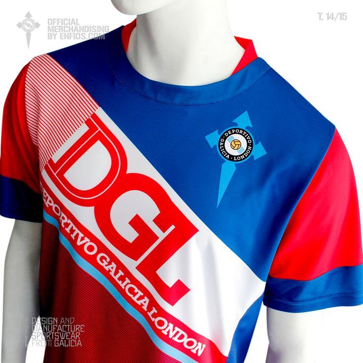 Official t-shirt goalkeeper DEPORTIVO GALICIA LONDON, season 2014 / 15.