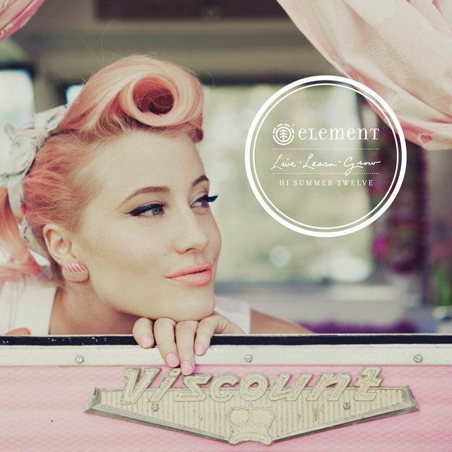 Amazing pink hair from the Element Eden Hi Summer 12 collection look book. #pink #hair #retro