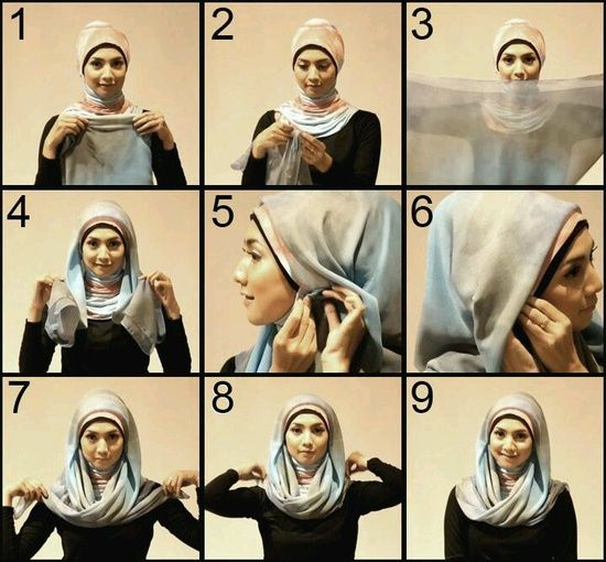 Front Crossed Hijab Tutorial Pictures 8804e344444225839533efbd5515a675