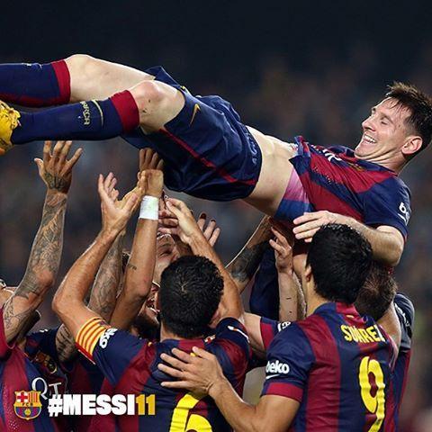 Let us know your favourite Messi moment in his 11 years with the team Quin és el teu moment més especial de Messi des del seu debut fa 11 anys? ¿Cuál es tu momento más especial de Messi desde su debut hace 11 años? #Messi11 #FCBarcelona @leomessi @fcbarcelona